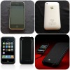 IPhone 3GS 32GB (White) + Leather Case (White) + Battery Case (White)